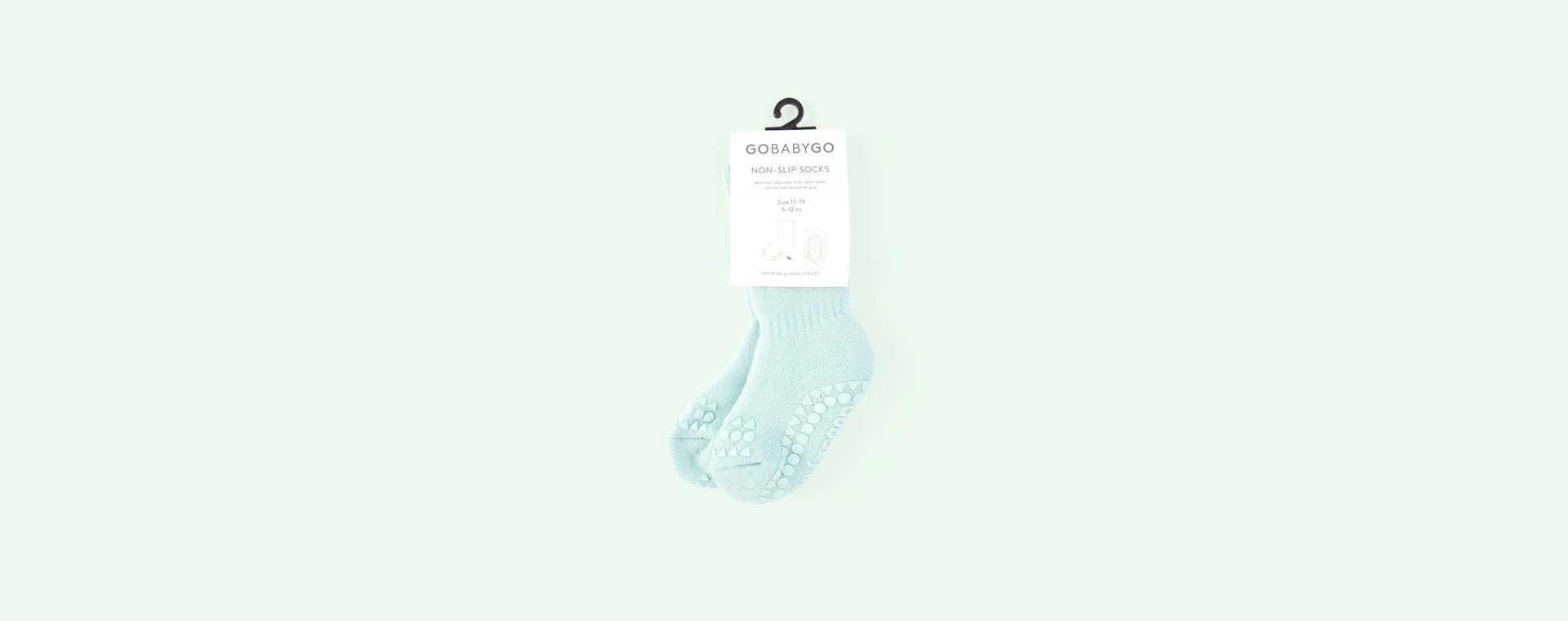 Mint Green Go Baby Go Non-Slip Socks