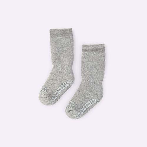 Grey Melange Go Baby Go Non-Slip Socks