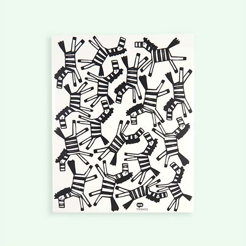 Black Tresxics Zebra Wall Stickers