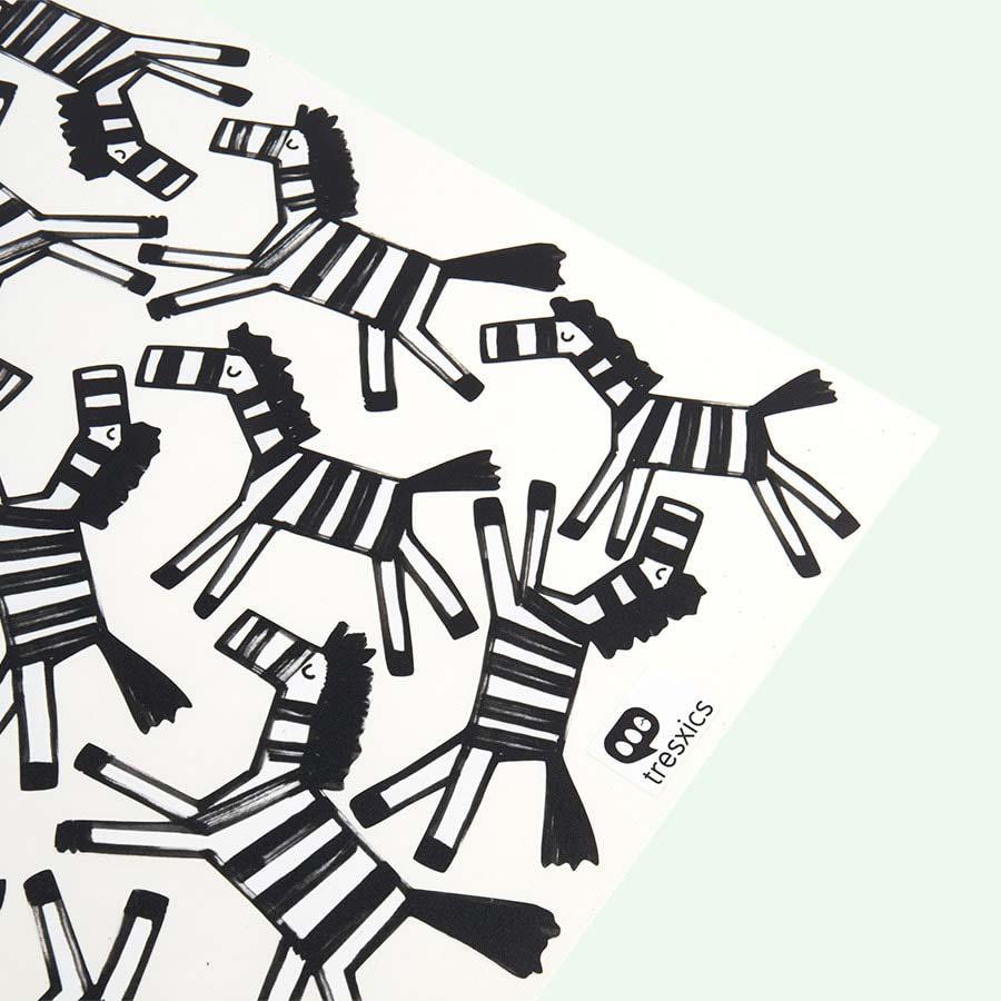 Black Tresxics Zebra Wall Stickers