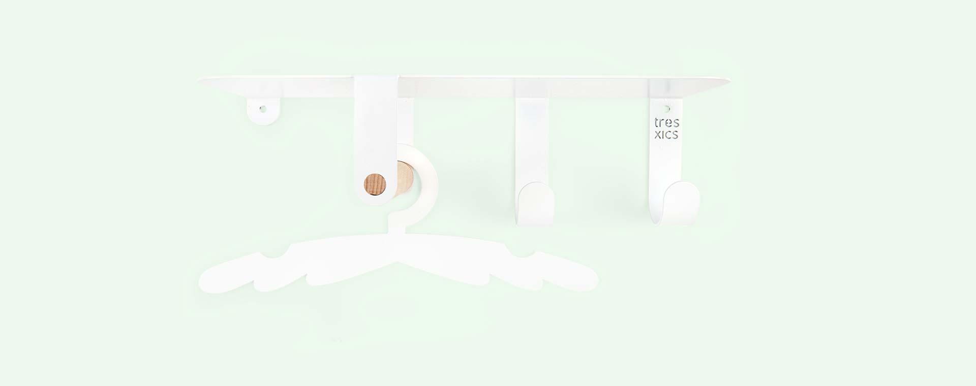 White Tresxics Baby Shelf & Hanger Set
