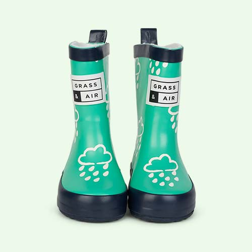 Green Grass & Air Kids Colour-Revealing Wellies