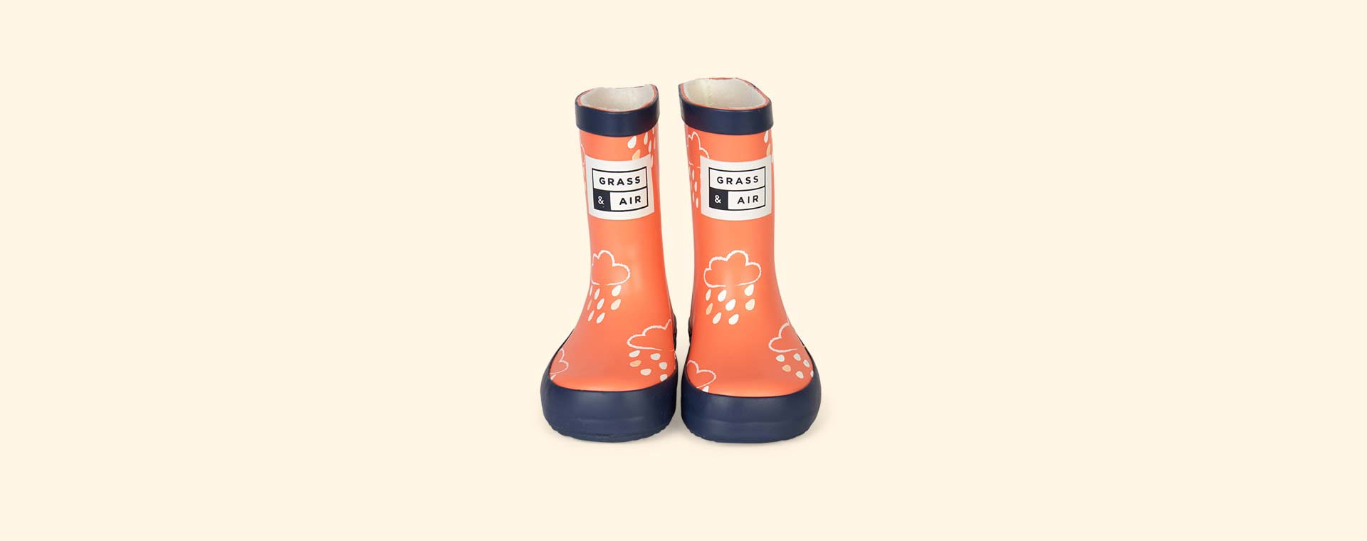 Coral Grass & Air Kids Colour-Revealing Wellies