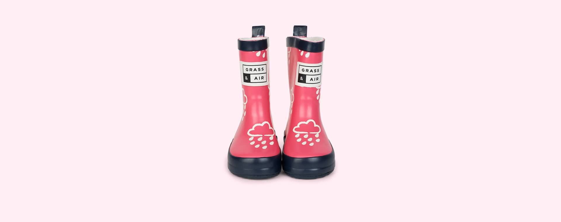 Pink Grass & Air Kids Colour-Revealing Wellies