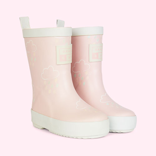 Baby Pink Grass & Air Kids Colour-Revealing Wellies