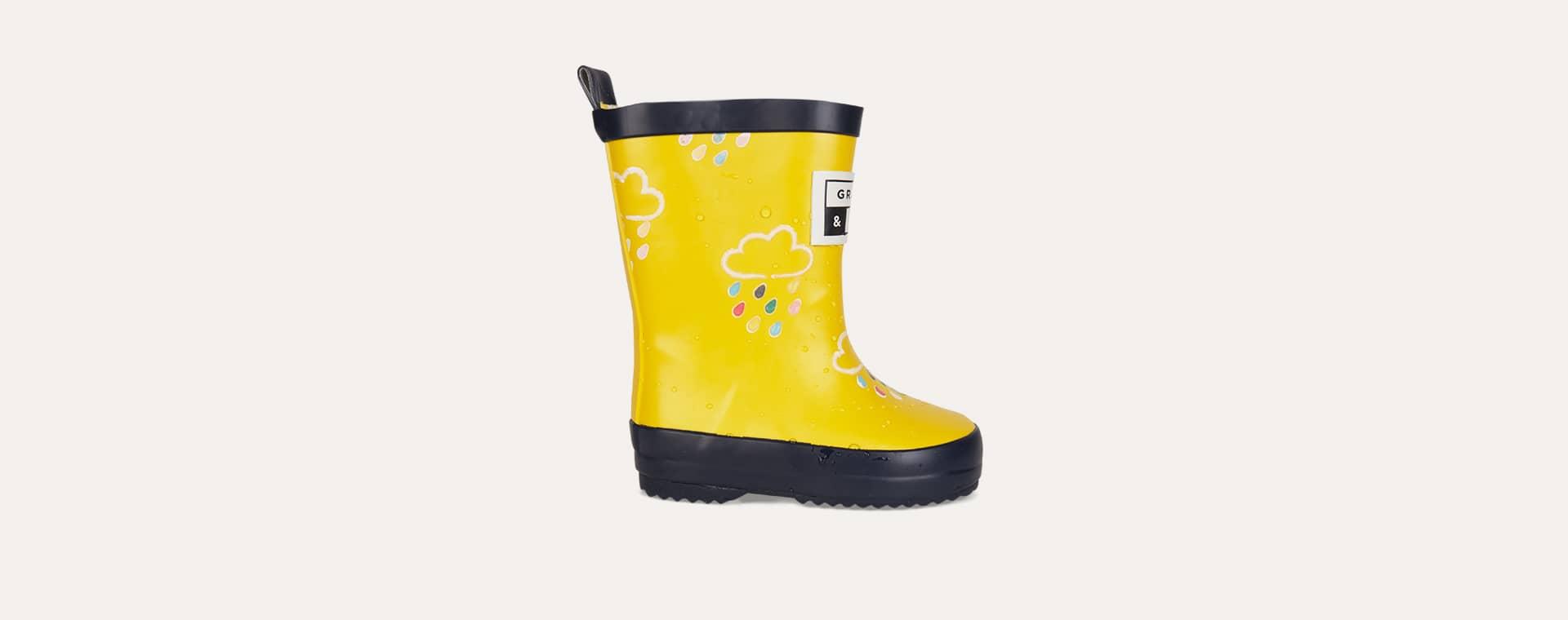 Yellow Grass & Air Kids Colour-Revealing Wellies