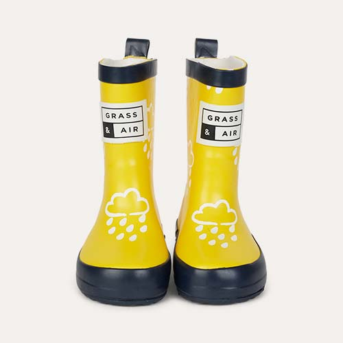 Yellow Grass & Air Kids Colour-Revealing Wellies