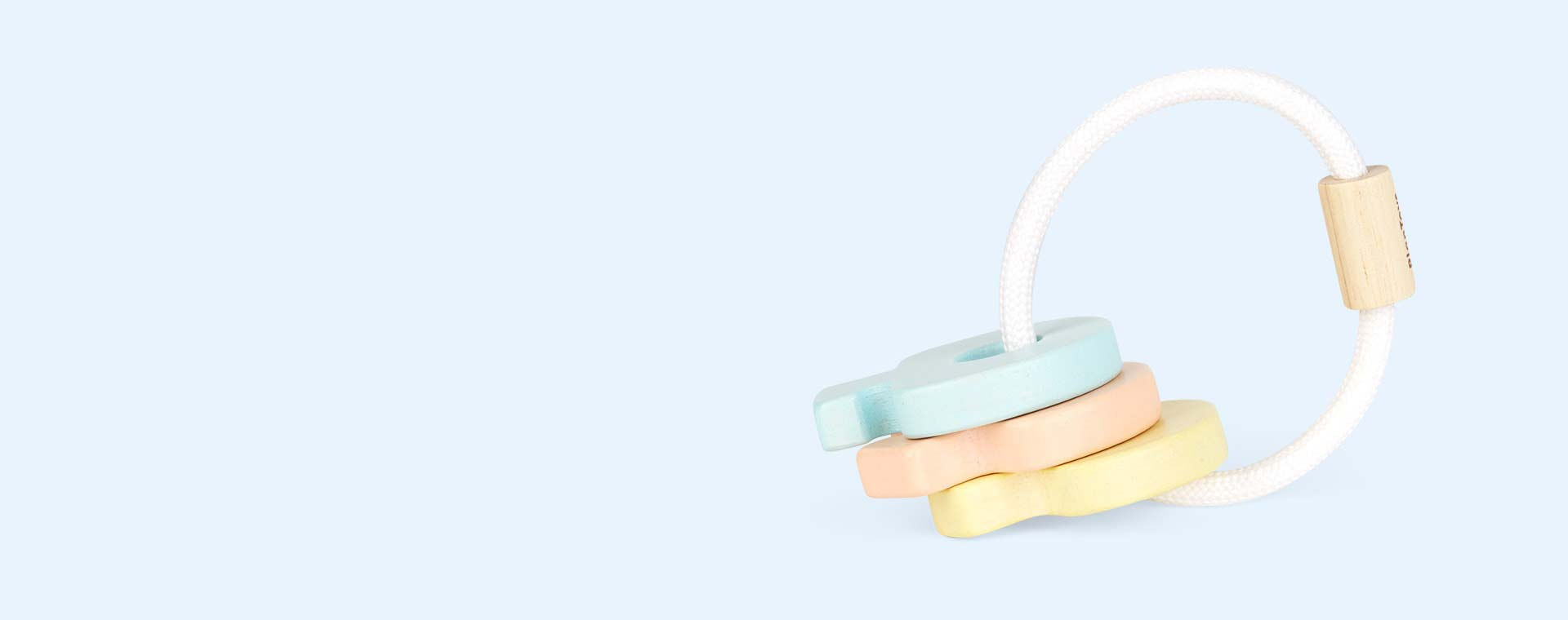 Pastels Plan Toys Key Rattle