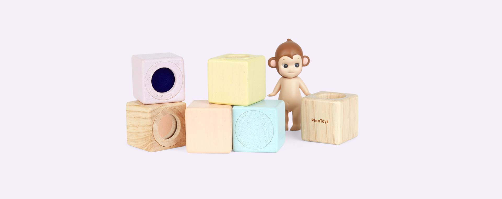 Pastels Plan Toys Sensory Blocks