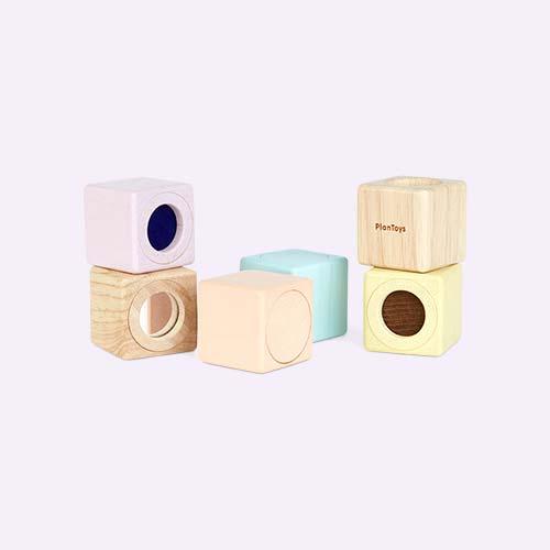 Pastels Plan Toys Sensory Blocks