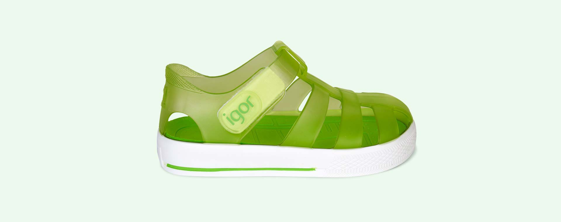Green igor Star Velcro Jelly shoes