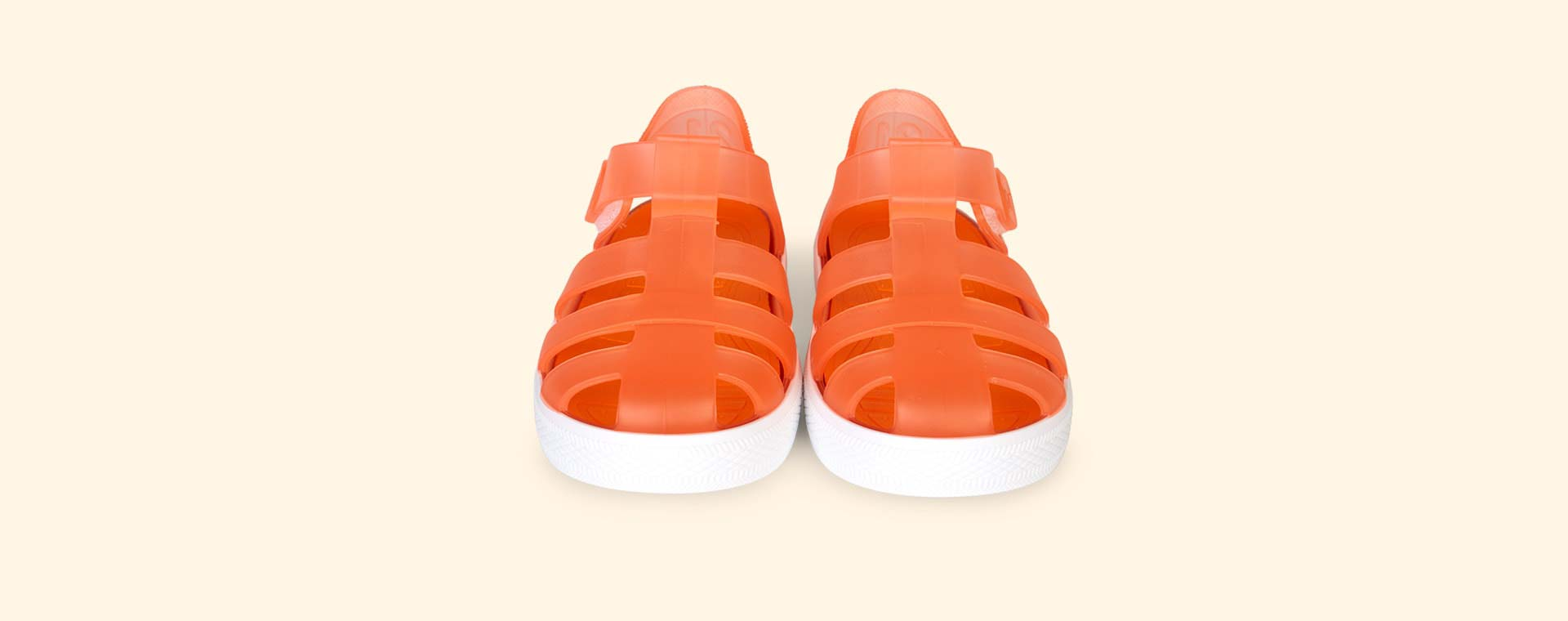 Orange igor Star Velcro Jelly shoes