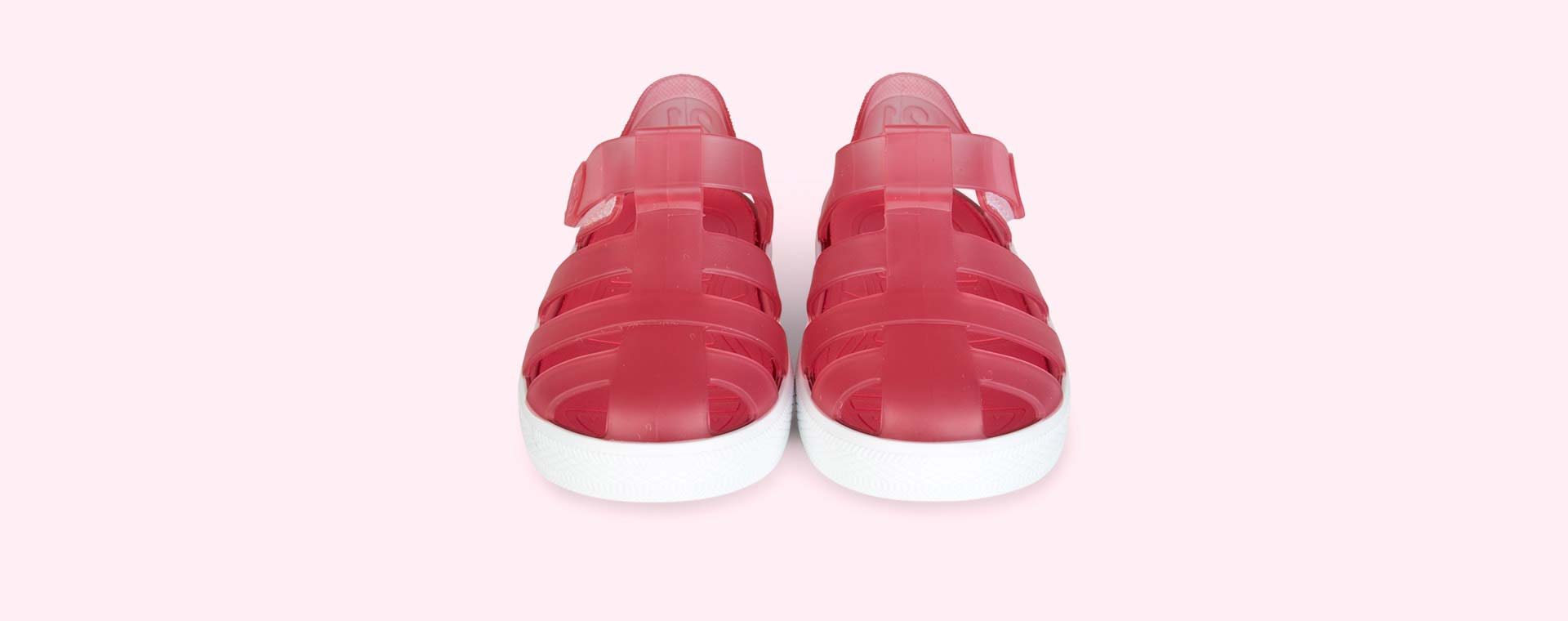 Fuschia igor Star Velcro Jelly shoes