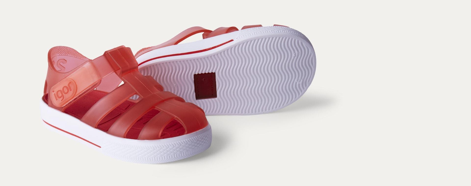 Rojo igor Star Velcro Jelly shoes
