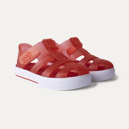 Rojo igor Star Velcro Jelly shoes