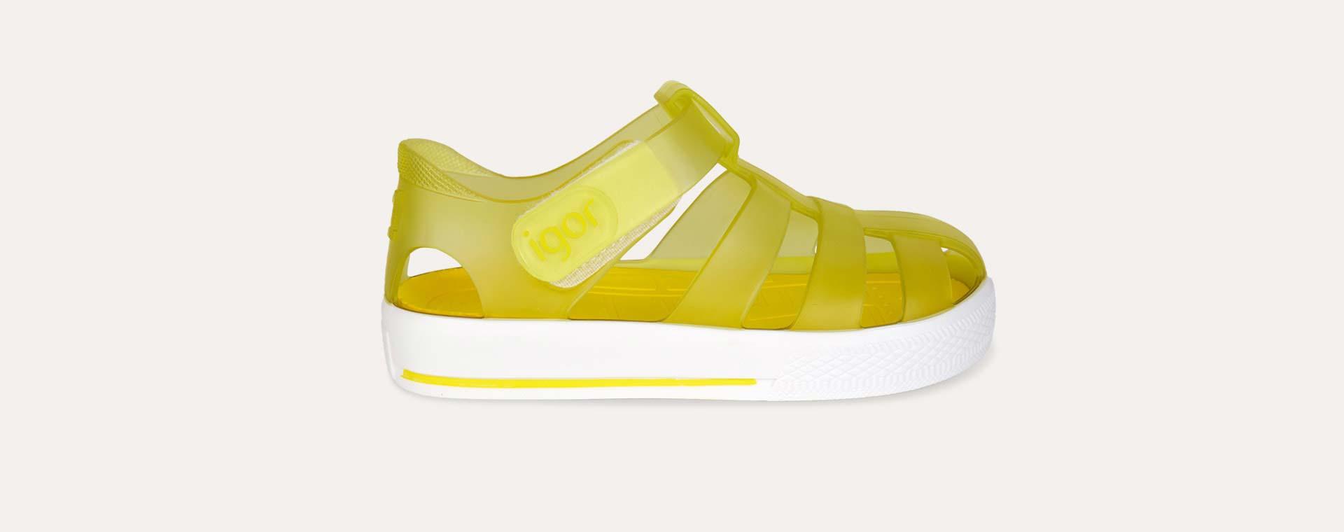 Amarillo igor Star Velcro Jelly shoes