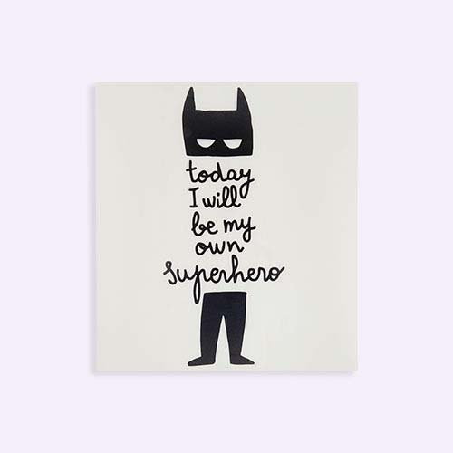 Black Chispum Today I Will Be My Own Superhero Wall Sticker