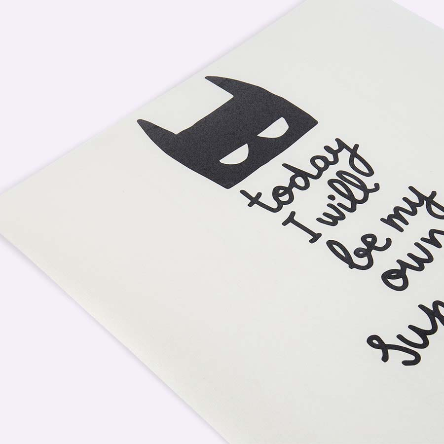 Black Chispum Today I Will Be My Own Superhero Wall Sticker