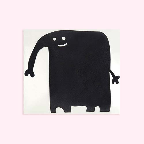 Black Chispum Elephant Blackboard Wall Sticker
