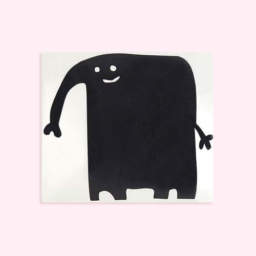 Black Chispum Elephant Blackboard Wall Sticker