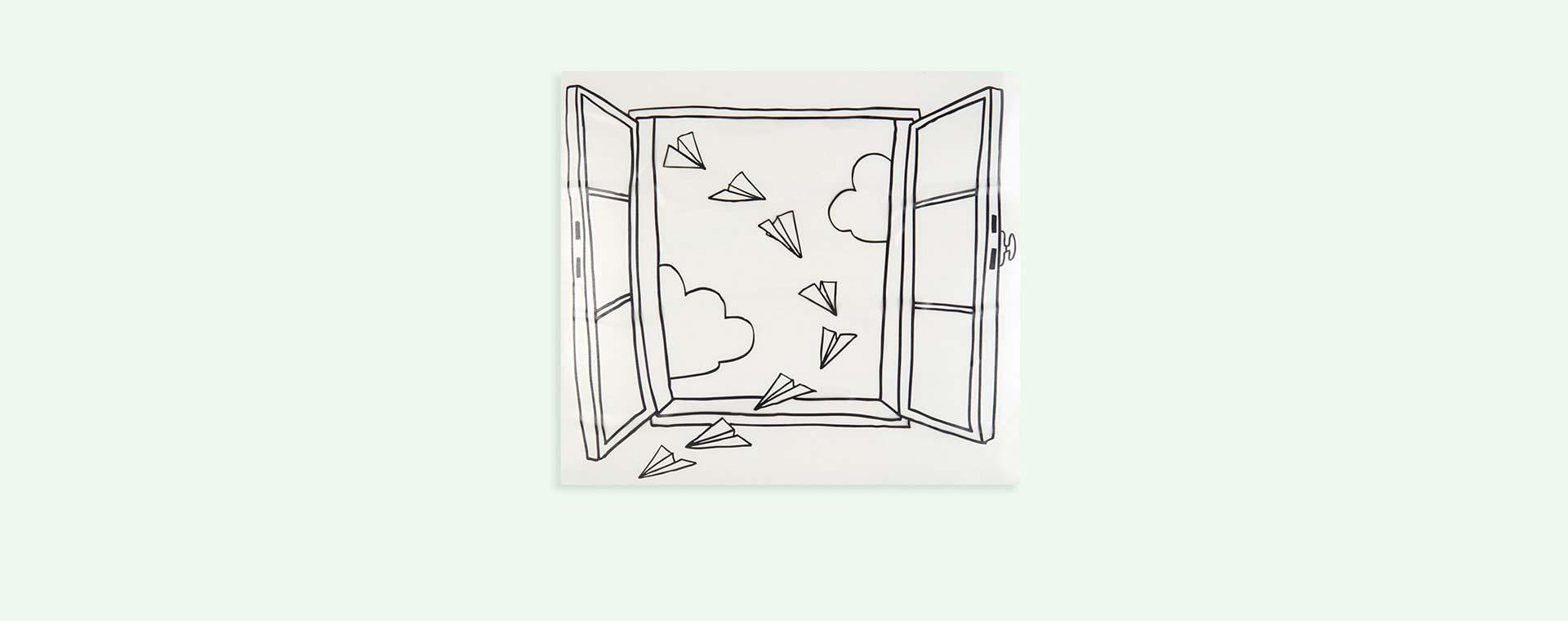 Black Chispum Planes Window Wall Sticker
