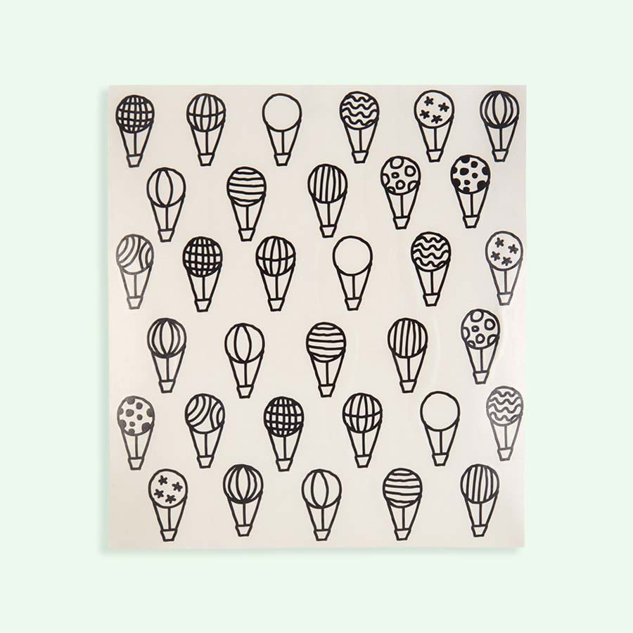 Black Chispum Balloons Wall Sticker