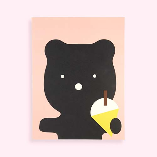 Multi Rachel Powell Ice Cream Bear Print