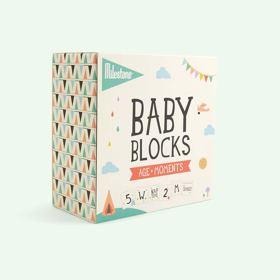 Multi Milestone Baby Blocks