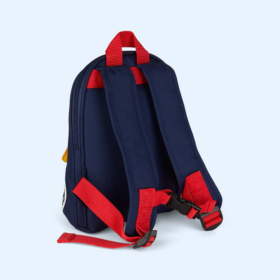 Navy Colour Block Babymel Mini Backpack with Rein