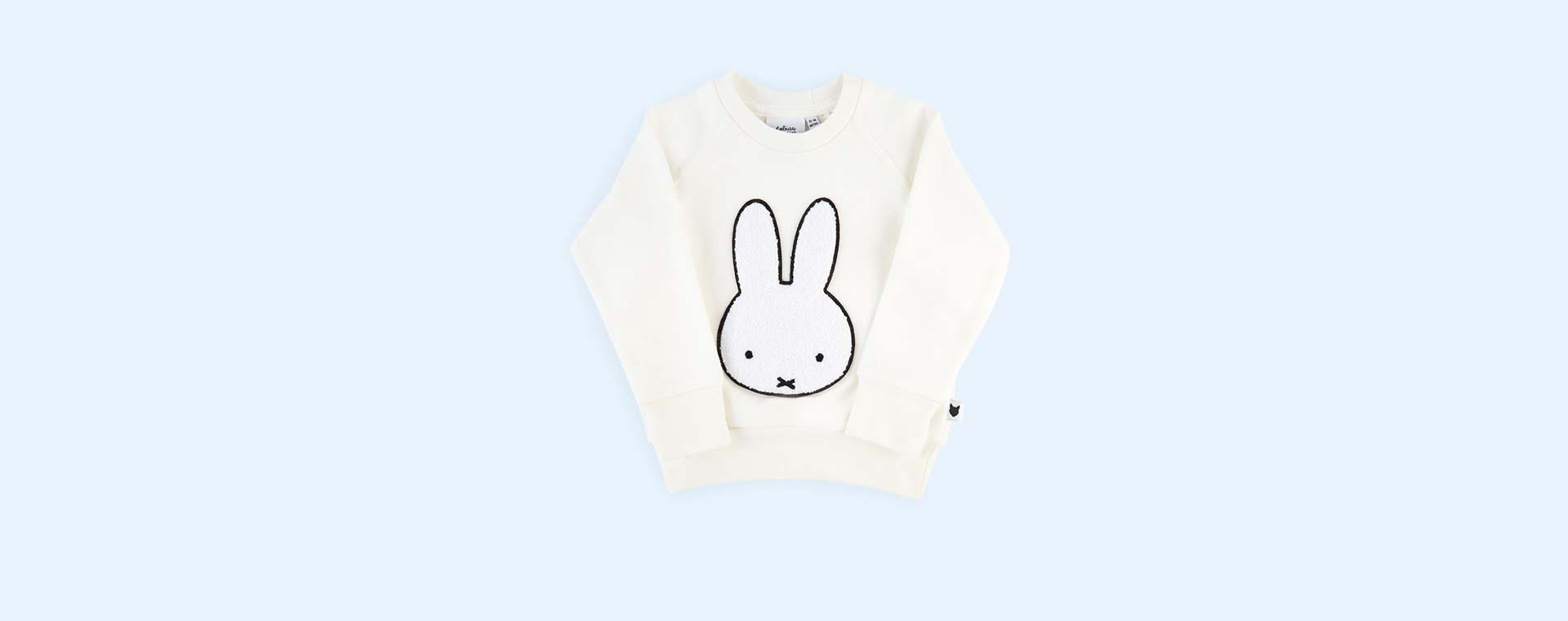 White tobias & the bear Miffy Badge Loopback Sweatshirt