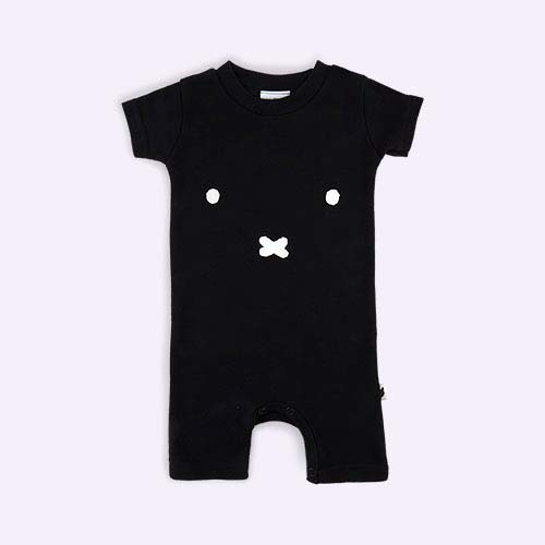Black tobias & the bear Miffy Face short Romper