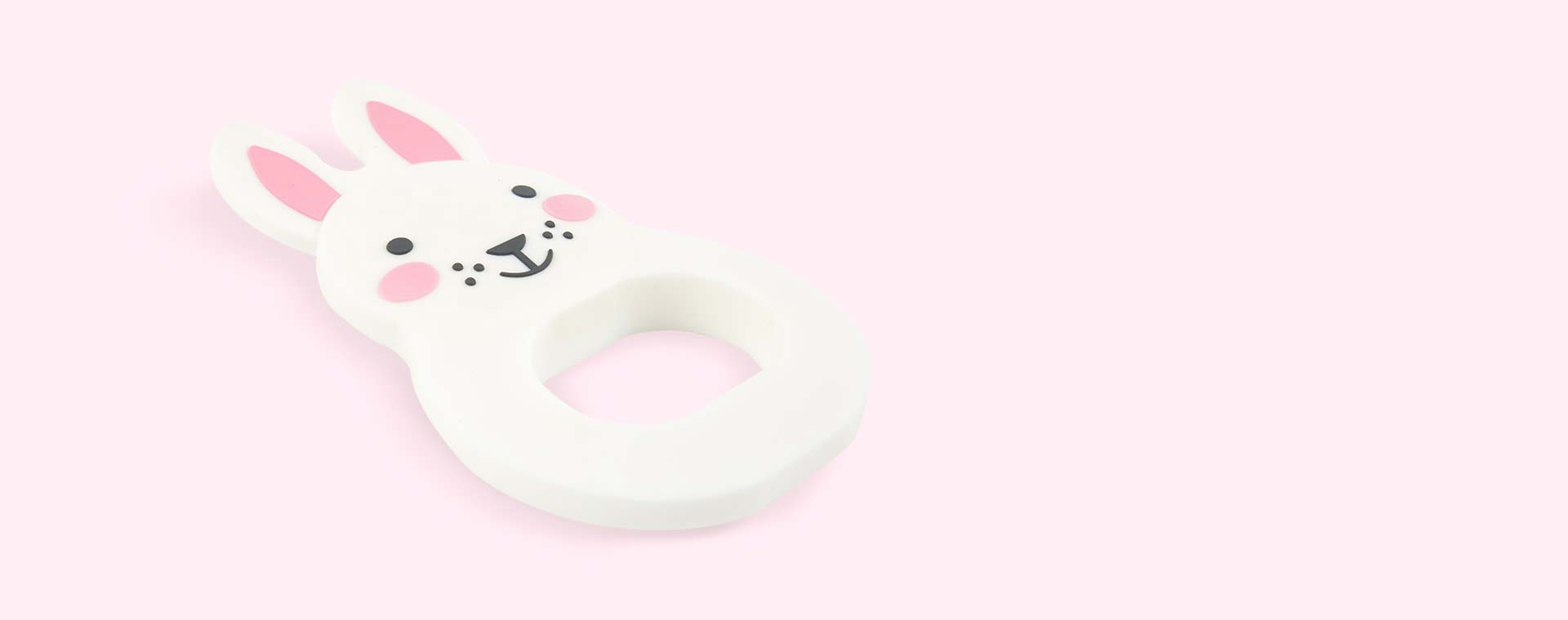 White Rosa & Bo Bo Bunny Teether