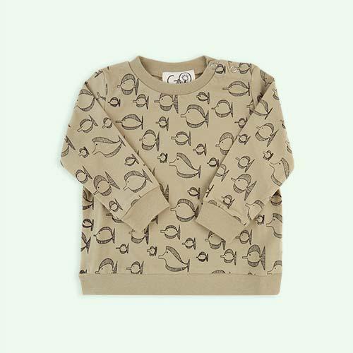 Camel Gro Company Fish Print Sweater