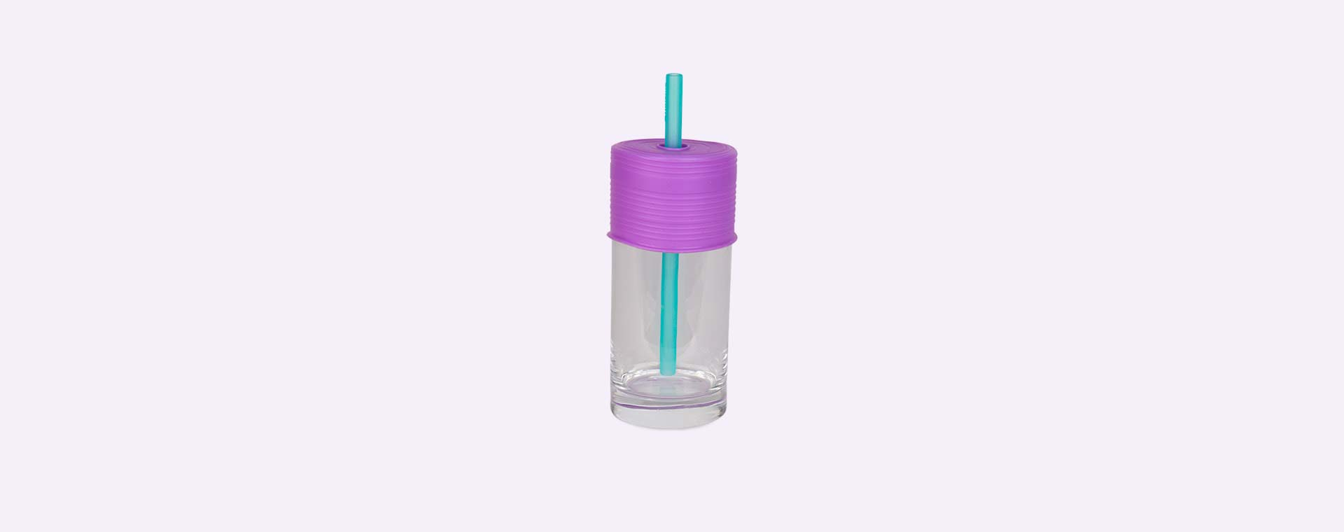 Lime, Purple & Green Go Sili Cup Toppers with Straw 3 Pack