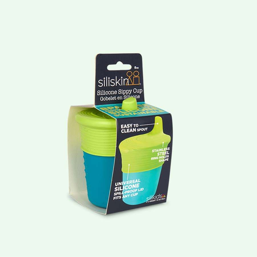Teal Go Sili Silicone Sippy Cup with Topper
