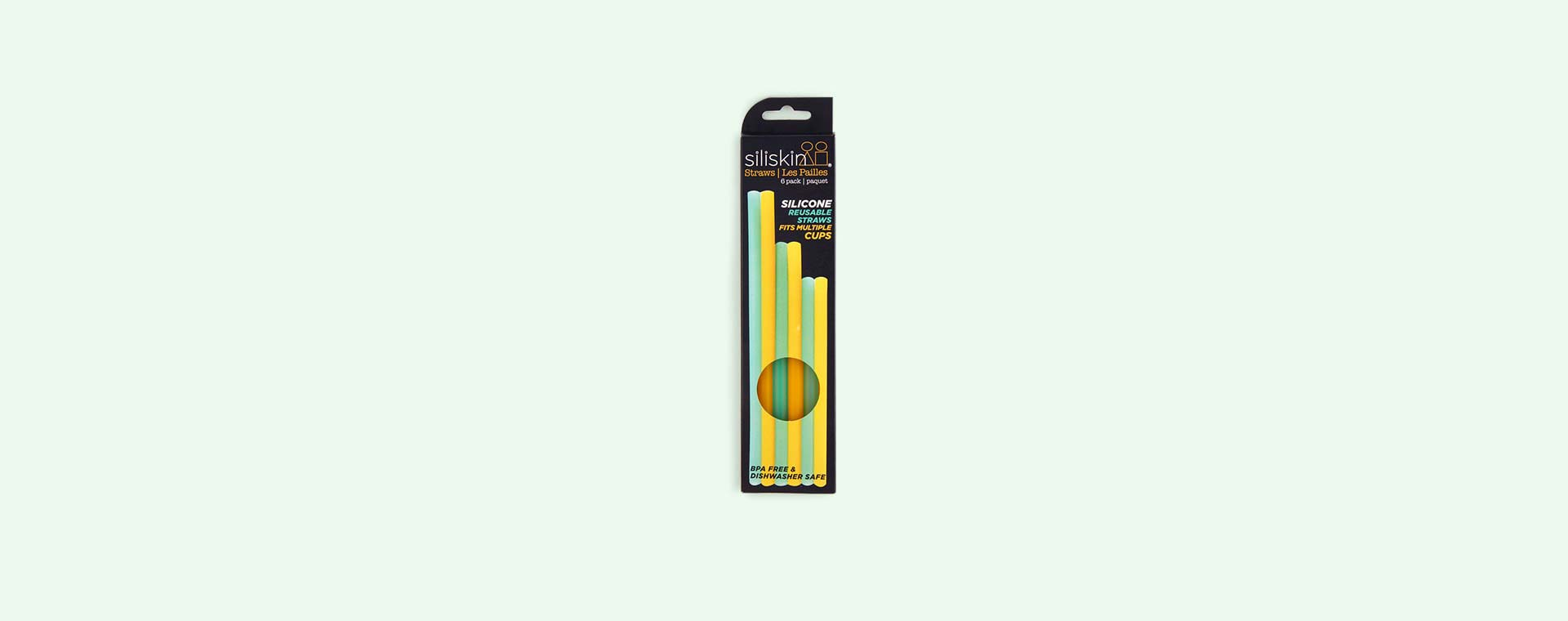 Orange & Aqua Go Sili Straw Pack