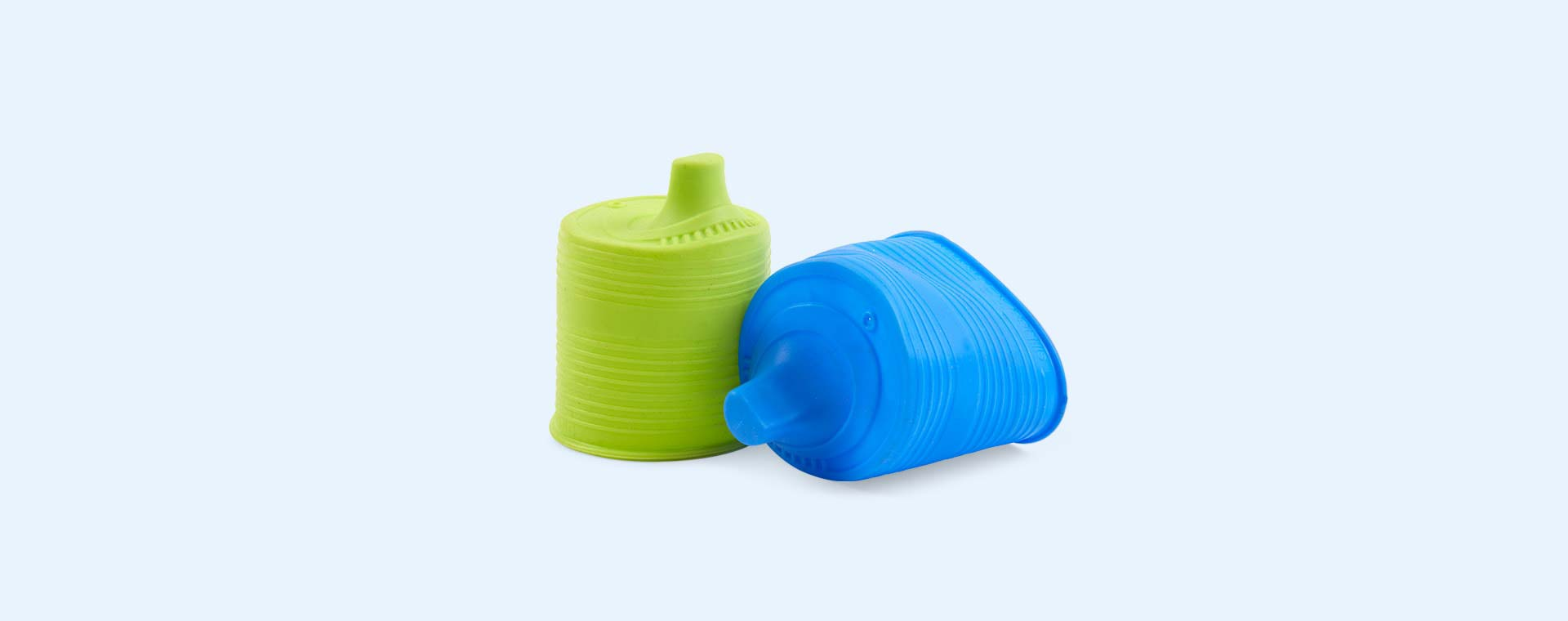 Green & Blue Go Sili Sippy Cup Toppers