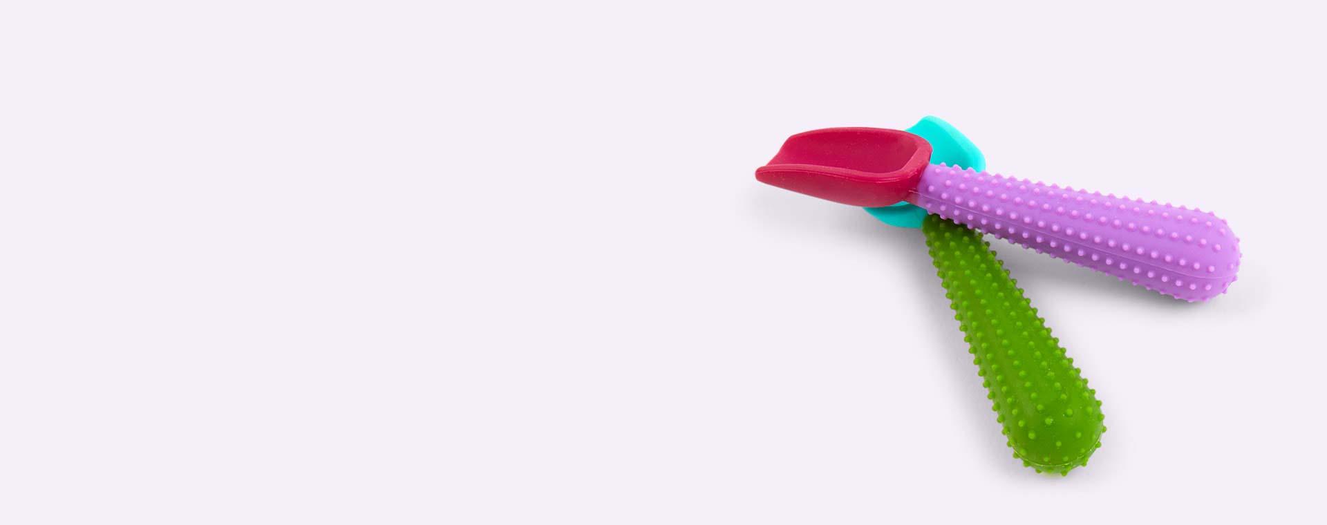 Green & Purple Go Sili Silicone Spoons