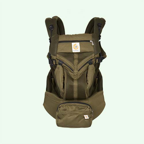 Khaki Ergobaby Omni 360 Cool Air Mesh