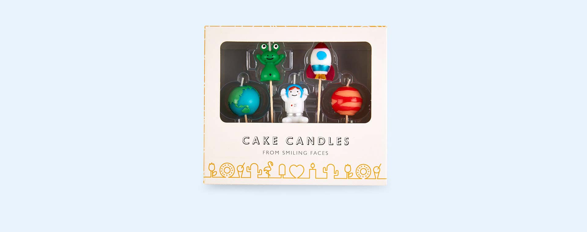 Space Smiling Faces Space Candles