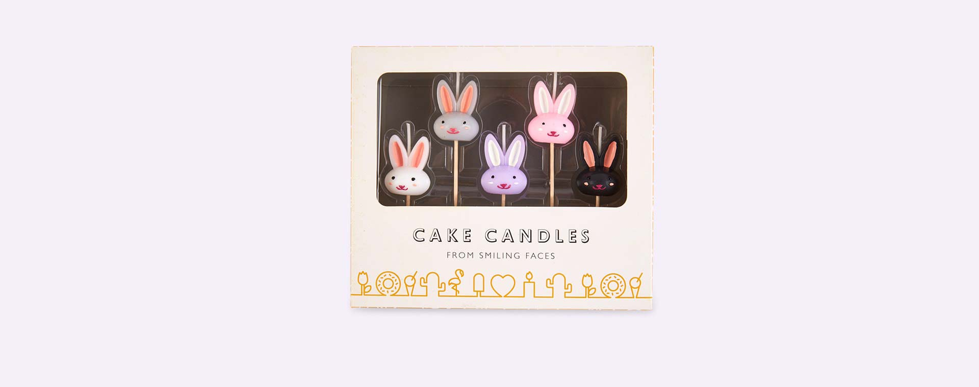 Bunny Smiling Faces Bunny Candles