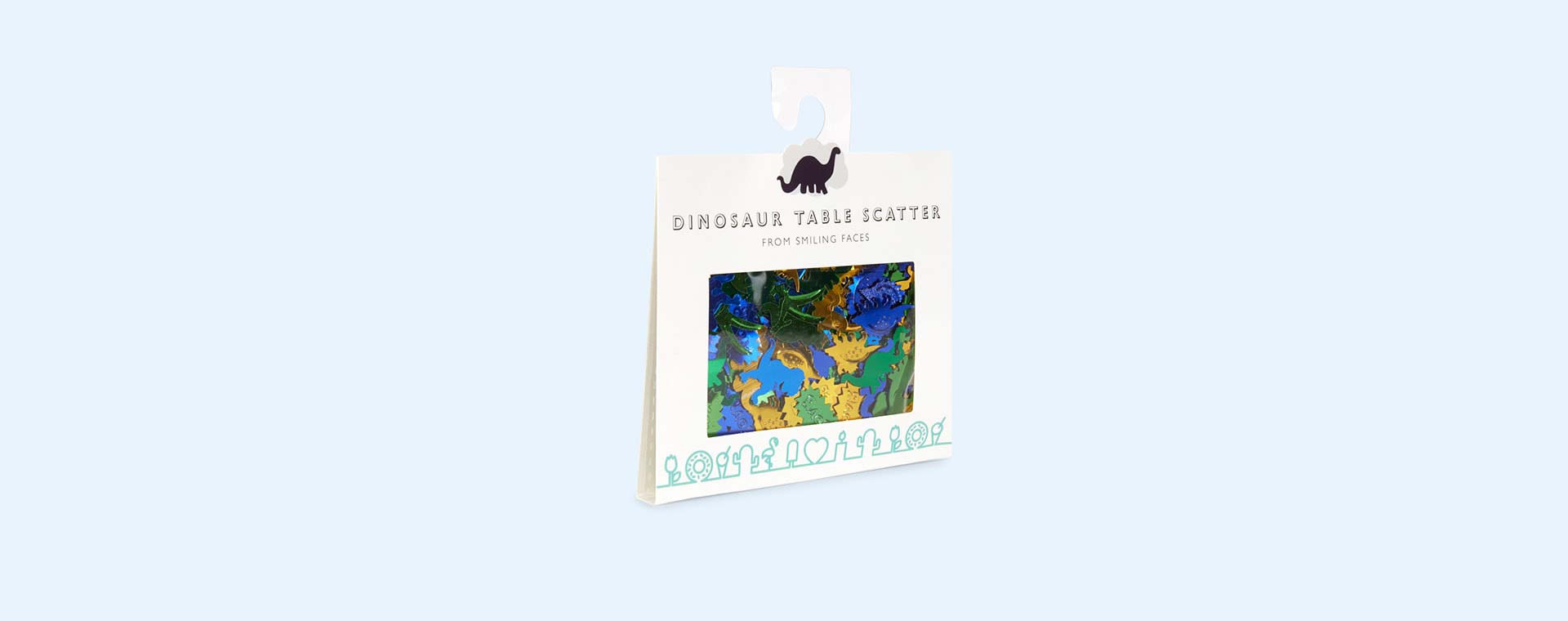 Dinosaur Smiling Faces Dinosaur Table Scatter