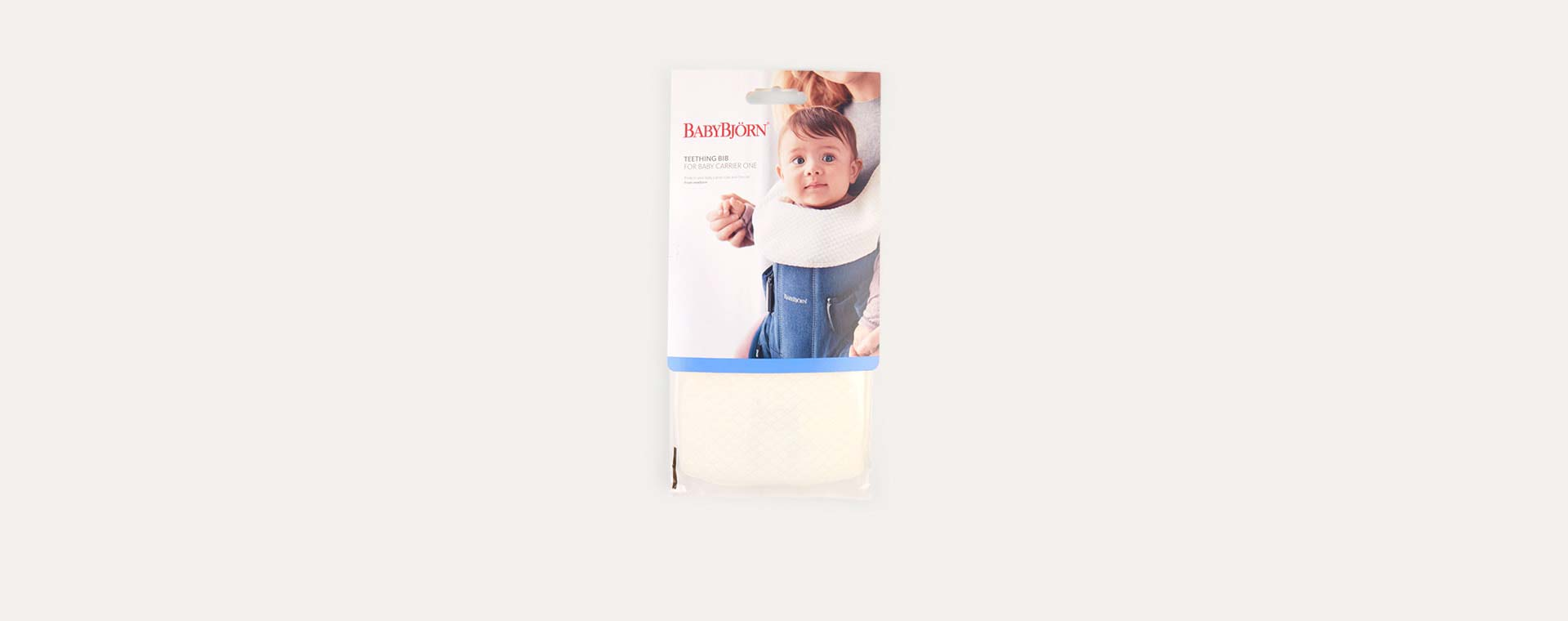 White BabyBjorn Carrier One Teething Bib