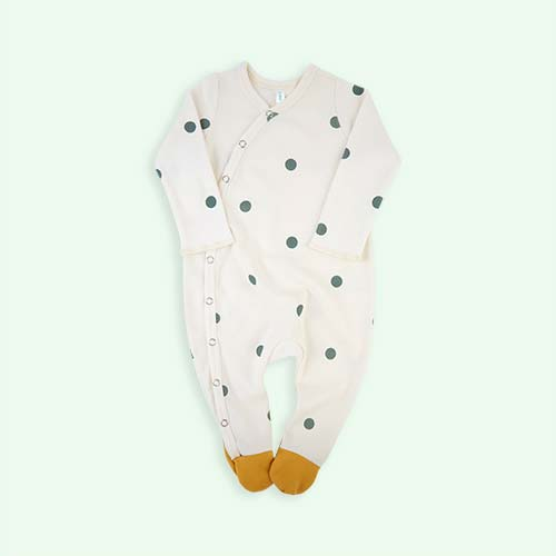 Cream with Dots Organic Zoo Dot Suit