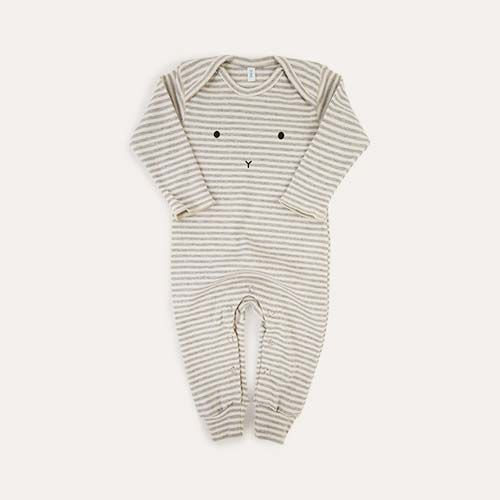 Bunny Face Stripe Organic Zoo Playsuit