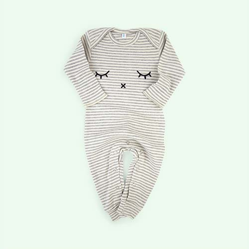 Grey Stripe Organic Zoo Playsuit