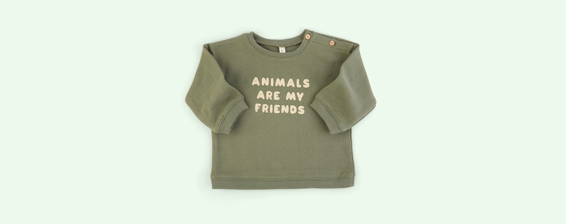Animals Are My Friends Organic Zoo Sweatshirt