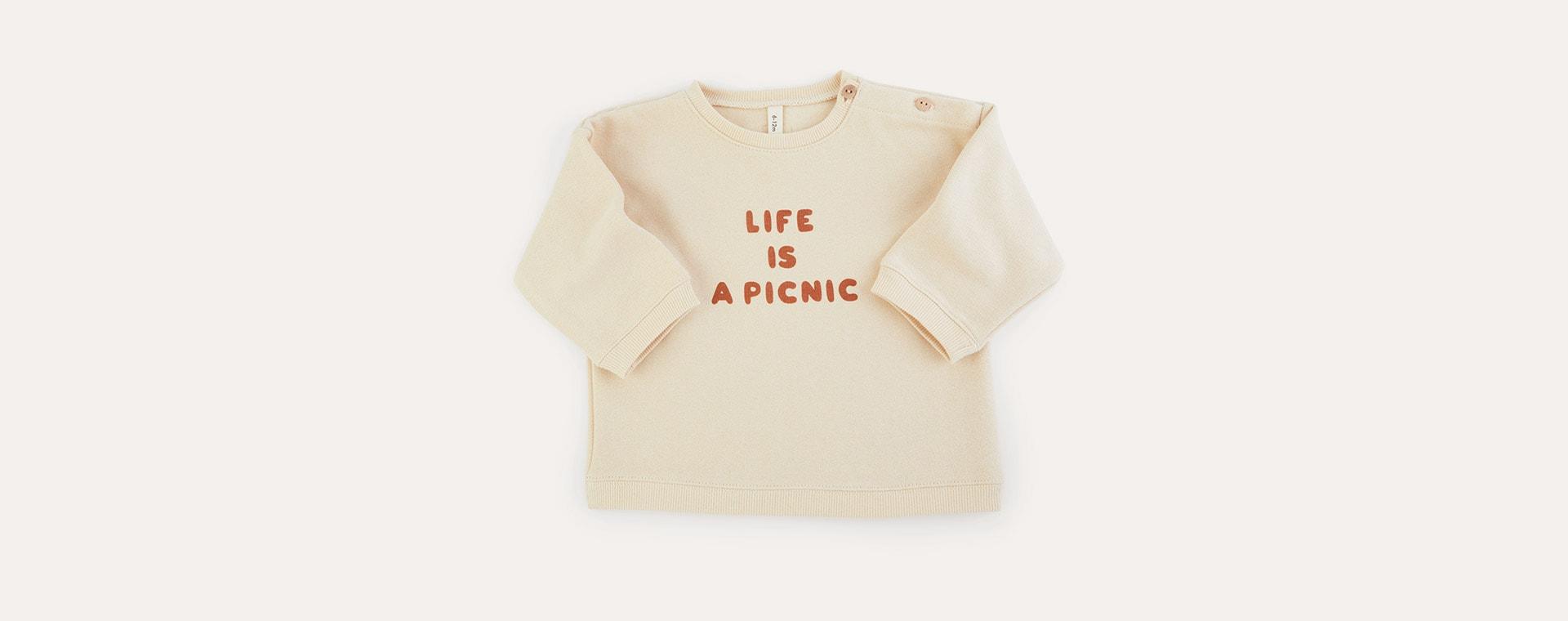 Life Is a Picnic Organic Zoo Sweatshirt
