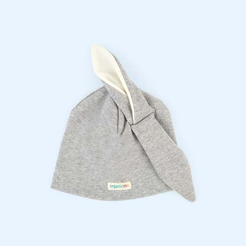 Grey Organic Zoo Rabbit Hat