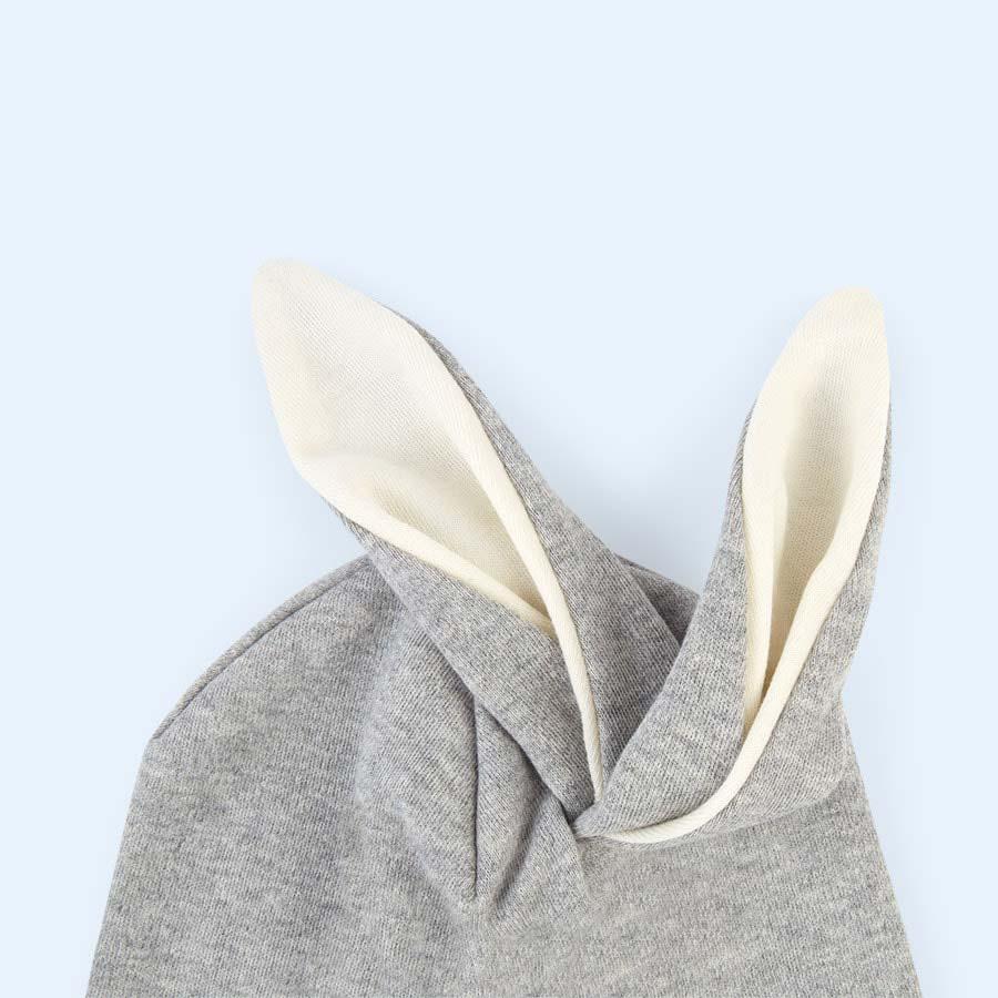 Grey Organic Zoo Rabbit Hat